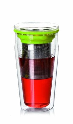Tea Beyond Eco Tumbler Double Wall Glass with Stainless Steel Strainer 15Ounce -- Details can be found by clicking on the image.Note:It is affiliate link to Amazon.