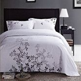 I want to redo my room like this!! Found it at Wayfair - Ravel 100% cotton embroidered 3 piece  duvet cover set