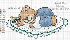 ponto cruz ursinhos com bola - Pesquisa Google