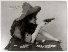My kind of lady, circa 1912. | 15 Retro Pics Of Truly Badass Cowgirls