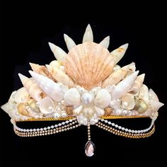 Mermaid Crafts, Mermaid Diy, Seashell Crafts, Diy Mermaid Costume, Mermaid Shell, Mermaid Crown, Mermaid Tails, Seashell Crown, Shell Crowns