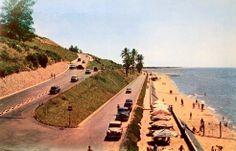 A Praia da Polana em Lourenço Marques, anos 60.