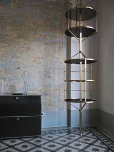 Voliera metal shelf by Italian Furniture Designer Pietro Russo | Yellowtrace.
