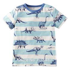 Nueva Marca de Verano 2016 100% Del Algodón Del Bebé Niños Ropa Para Niños ropa de Los Niños Muchachos Del Niño t Shirt Camiseta de La…