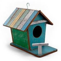 Charleston Reclaimed Wood Pastel Birdhouse - $45
