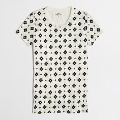 Factory flocked paisley collector tee : short sleeve | J.Crew Factory