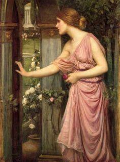 Psyche entering cupids garden - John William Waterhouse xx