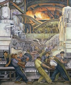 """Urban print - """"Detroit Industry, North Wall, 1932-33"""" by Diego Rivera available at Great BIG Canvas."""