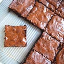 Butter and oil combine to make a brownie with a chewy texture.
