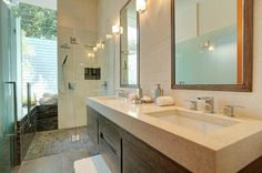 Two-sink vanity #bathroom