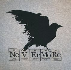 Raven Nevermore ElementeesTM tee shirt for the nerd in you on Etsy, $15.95