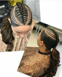 Neat Fishbone Braids - 20 Gorgeous Ghana Braids for an Intricate Hairdo in 2019 - The Trending Hairstyle Hair Ponytail Styles, Black Ponytail Hairstyles, Sleek Ponytail, Perfect Ponytail, Braid Styles, Weave Hairstyles, Girl Hairstyles, Curly Hair Styles, Natural Hair Styles