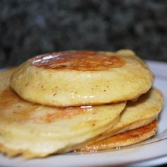 """Oatmeal Cottage Cheese Pancakes - ½ cup oatmeal  ½ cup cottage cheese  1 teaspoon vanilla  2 eggs  1 tablespoon powdered sugar  What you do:  1.Blend all ingredients in blender.  2. Spray skillet with cooking spray and cook just like """"silver dollar"""" pancakes, a few small ones at a time.  3. Brown on both sides and serve hot."""