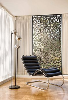 New product, through innovative ideas, perfect design, integration of modern and classic style created with a simple structure. Manufactured through a specific mold casting main panel and using stainless steel or plastic as facade finish. A perfect replacement for the usual heavy metal screens. Relatively simple to assemble and install, a great option for divider, window screens and outstanding ceiling feature.