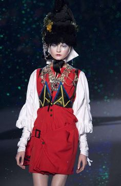 """BEYOND DRESS CODES""""   CONTEMPORARY FASHION DESIGNERS IN DIALOGUE WITH TRADITIONAL GREEK COSTUME                        [JOHN GALLIANO (AW 2009)]"""