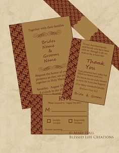 Elegant Burgundy and Tan Wedding by BlessedLifeCreations on Etsy