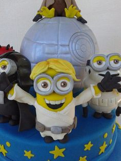 Minion and star wars cake Cakes Pinterest Star wars cake Cake