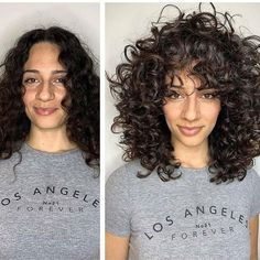 Curly Hair With Bangs, Curly Hair Tips, Short Curly Hair, Haircuts For Curly Hair, Curled Hairstyles, Hair Dos, Wavy Hair, Pretty Hairstyles, New Hair