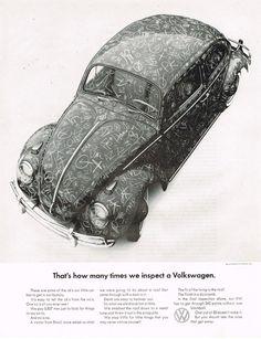 1965 Volkswagen Beetle Advertisement #vintage #volkswagens