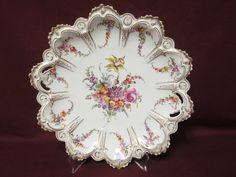 Dresden Hand Painted Porcelain Cake Plate Franziska Hirsch