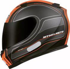 capacete mt blade raceline preto e laranja com frete grátis