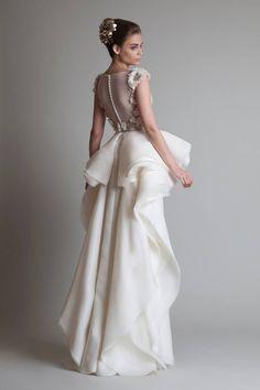 Vestido de noiva de Krikor Jabotian. #casamento #vestidodenoiva