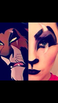 #disney #halloween #halloween make up #lion king