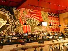 Shepard Fairey (Obey Giant) at Wynwood Kitchen & Bar (Interior Walls) | by ReLowed.com