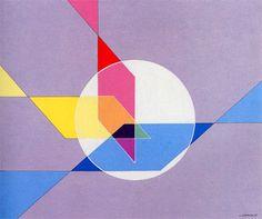"""Luigi Veronesi, """"Costruzione TH4"""", 1985, Acrilico su tela, 50 x 60."""