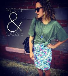 Oversized Patrick tied up is kind of perfectly balanced with a Cassie.  #lularoe #lularoestyle Www.facebook.com/groups/lularoenatalieandrews