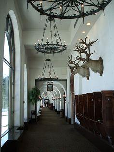 The most beautiful corridor at Chateau Lake Louise