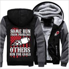 00 USA size American Team Men Women Thicken Fleece Zipper Hoodie Fan Jacket  For Goals Clothing Casual Coat