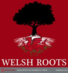 Welsh Roots: A Design Dedicated to Those With Roots in Wales - Anglotees Cardiff Wales, Wales Uk, North Wales, Wales Country, Welsh Language, Welsh Rugby, Welsh Dragon, Celtic Culture, England Ireland