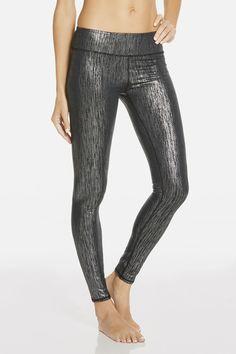 Salar Legging in zwart/zilver/icicle print