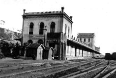 A Estação de Cachoeira Paulista nos anos 1940.
