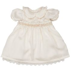Malvi & Co Baby Girls Ivory Dress With Collar | CHILDRENSALON