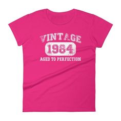 Women's Vintage 1984 Aged to perfection T-shirt - 33rd birthday ideas