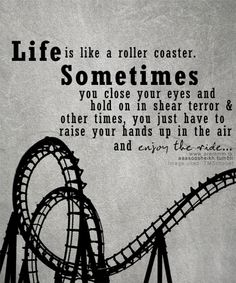"""Just like Grandma said in the movie Parenthood, """"Some people ride the carousel, not me, that just goes round and round. I prefer the roller coaster."""""""