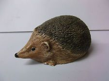 DECORATIVE HEDGEHOG FIGURE HAND PAINTED