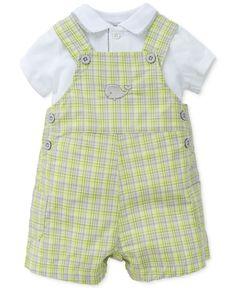 Little Me Baby Boys' 2-Piece Happy Whale Shirt & Shortall Set