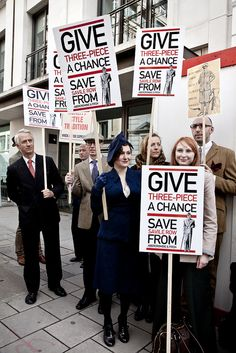 The Chap Protest - Savile Row - Abercrombie & Fitch by Stephanie Wolff, via Flickr