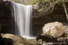 Cucumber Falls in Ohiopyle State Park. Laurel Highlands of Pennsylvania.
