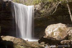 Cucumber Falls in Ohiopyle State Park. Laurel Highlands of Pennsylvania.
