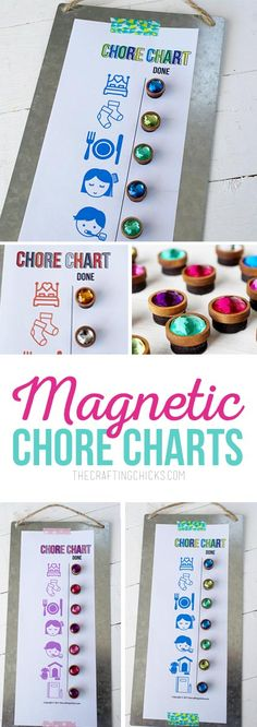 Magnetic Chore Charts for Little Kids - The Crafting Chicks