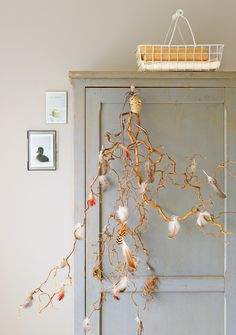 Ariadne at Home Twig Centerpieces, Wooden Cupboard, Easter Holidays, Spring Day, Bohemian Decor, Holidays And Events, Picture Wall, Decoration, Rustic