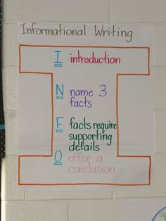 Expository Writing Anchor Chart | Writing Expository / Informational writing anchor chart