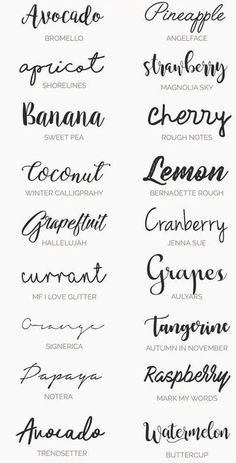 Ultimate Handwriting Free Fonts for your Wedding Invitations, diy . Ultimate Handwriting Free Fonts for your Wedding Invitations, diy . Lettering Tutorial, Handwriting Examples, Free Handwriting Fonts, Cool Handwriting, Beautiful Handwriting Fonts, Letras Cool, Summer Font, Spring Font, Hanya Tattoo