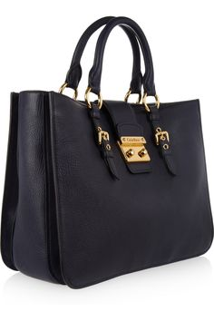Miu Miu - Madras textured-leather tote ba4f7464a02a2