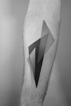 Dotwork triangles by Paweł Indulski