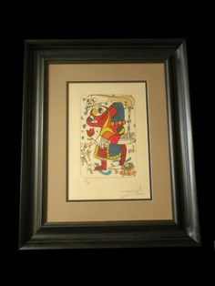 Signed Salvador Dali with all conservation materials